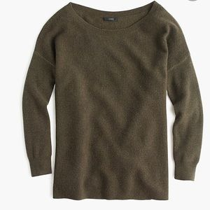 J. Crew Ribbed Boatneck Wool Pullover Sweater Top
